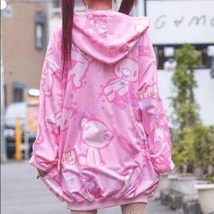 Gloomy bear hoodie pink jacket new